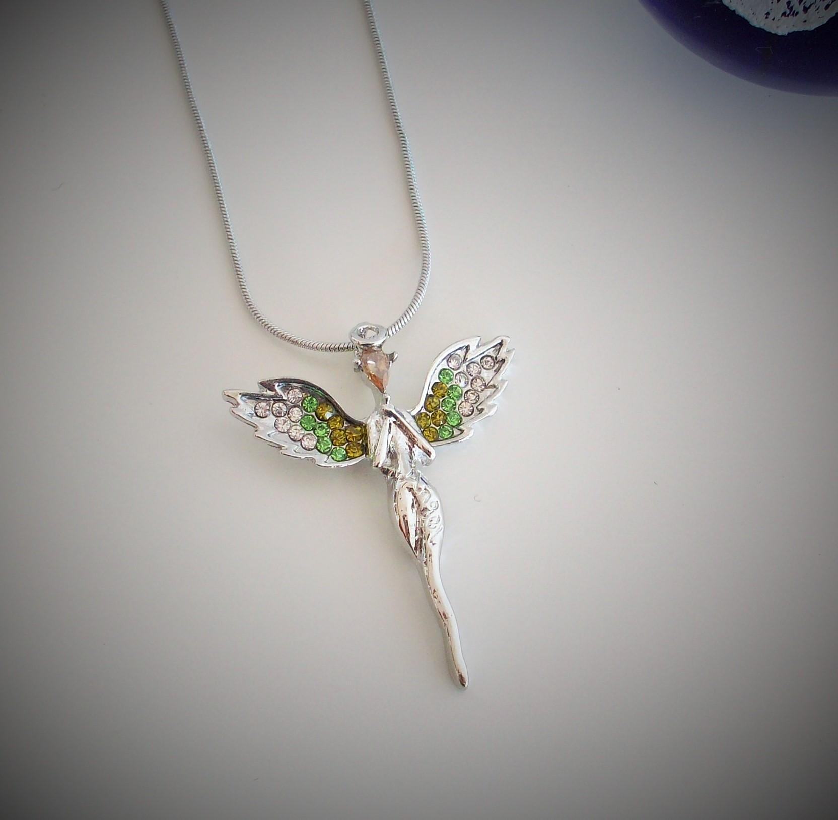 halsband ängel silver